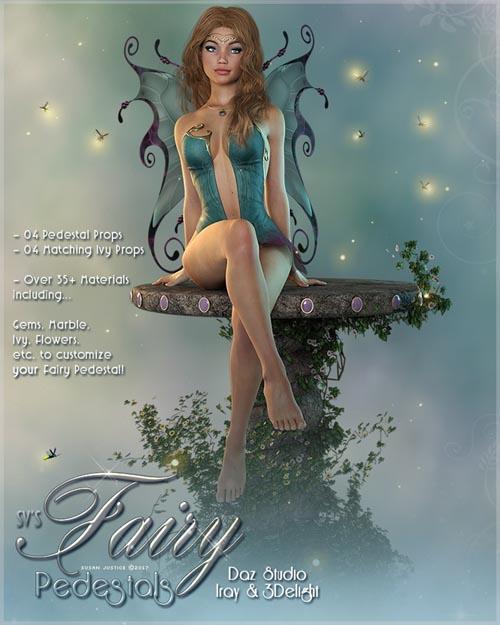 SV's Fairy Pedestals Daz Studio