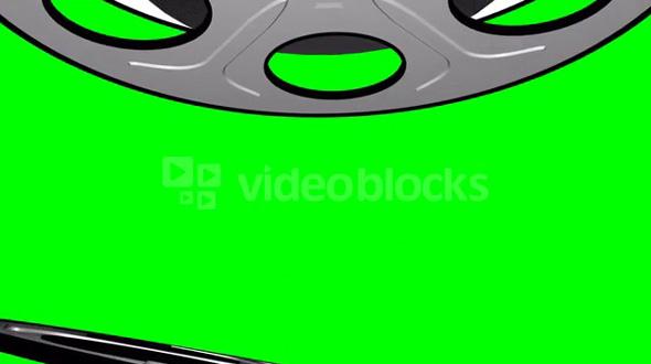 Spinning Film Reels Green Screen 1