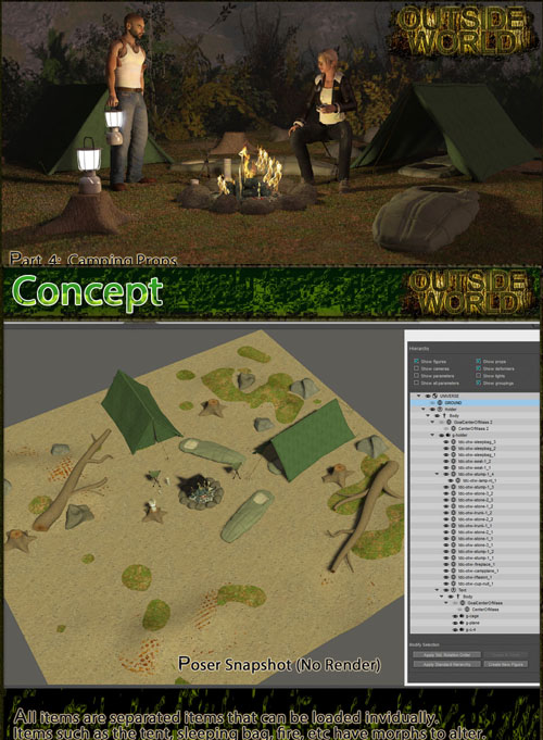 Outside World: Part4 - Camping Props