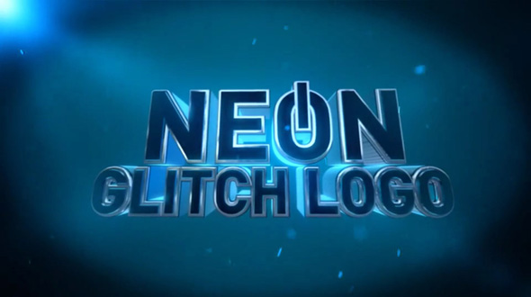 Neon Glitch Logo