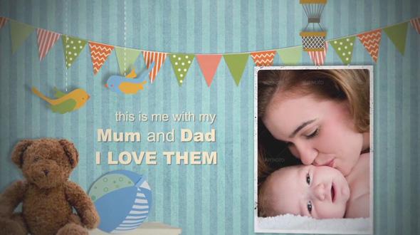 Birth Announcement - Baby Photo Album