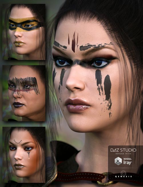 Warrior Makeups for Genesis 3 Female(s)