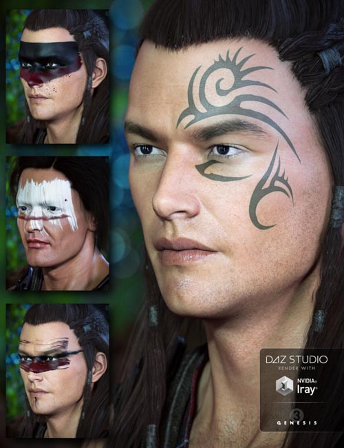Warrior Makeups for Genesis 3 Male(s)