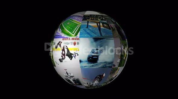 spinning picture ball