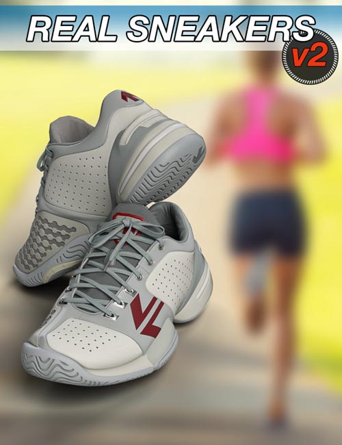 Slide3D Real Sneakers II for Genesis 3 Female(s)