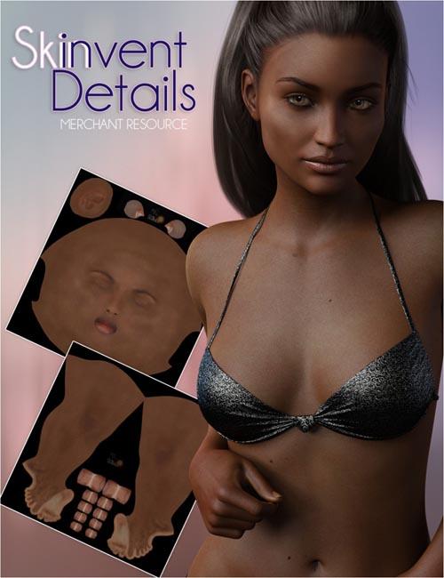 FWSA Skinvent Details Dark Merchant Resource for Genesis 3 Female(s)