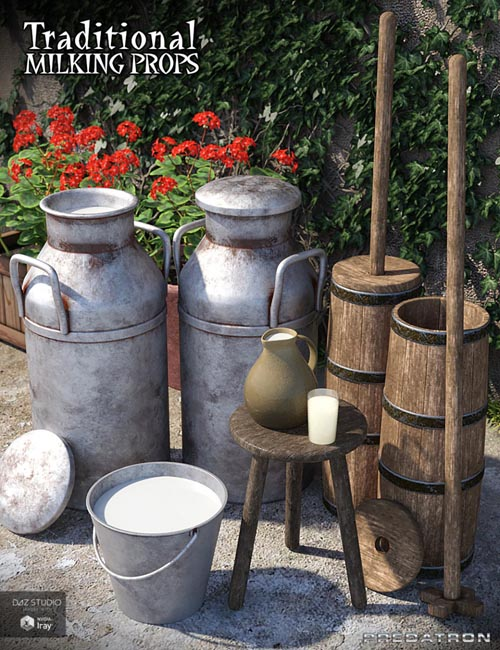 Traditional Milking Props