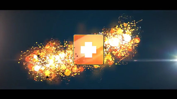 Glowing Particles Logo Reveal Pack 01