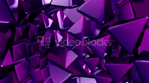 Rotating Purple Pyramid