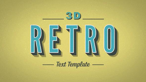 3D Retro Kinetic Typography