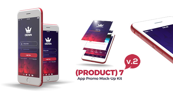 (Product) 7 App Promo Mock-Up Kit V.2