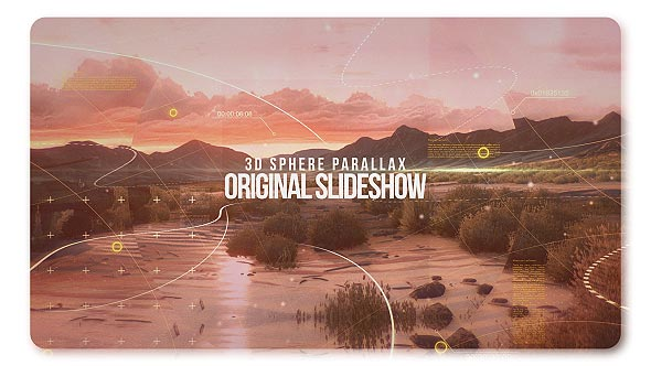 3D Sphere Original Parallax Slideshow