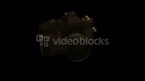 spinning black camera digital