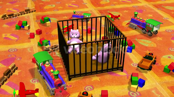 Teddy Bears in a Cart