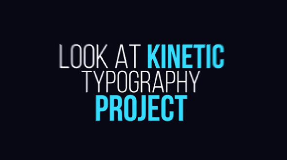 Dynamic Kinetic Typography
