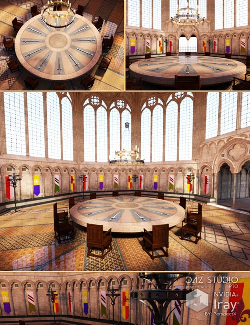Great hall of the round table best daz3d poses download site for 12 rules of the knights of the round table