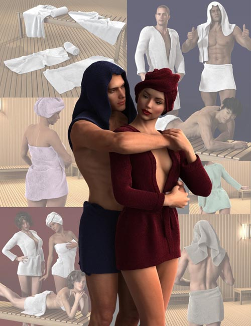 Bath Wear Bundle for Genesis 2 Male(s) and Female(s)