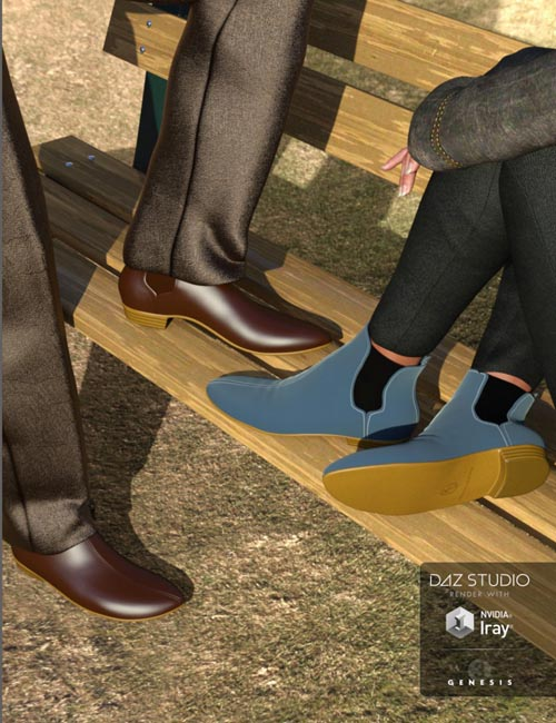 Chelsea Boots for Genesis 3 Male(s) and Female(s)