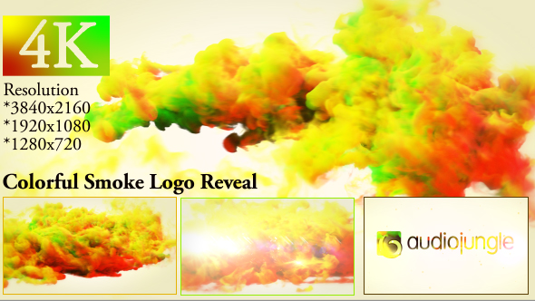 Colorful Smoke Logo Reveal