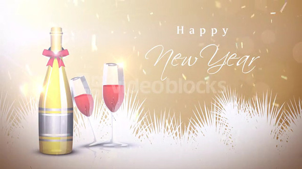 Happy New Year Champagne Celebration