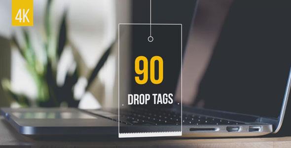 90 Drop Tags