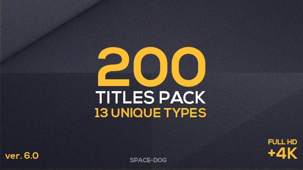 200 Titles Pack (13 unique types)