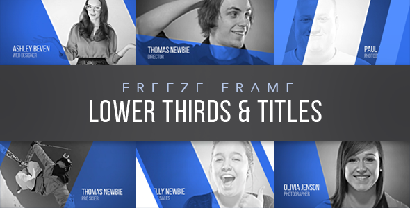 Freeze Frame Lower Thirds