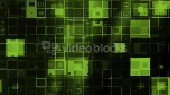Scrolling Glow Boxes Green