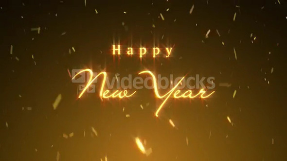 Happy New Year Message with Confetti
