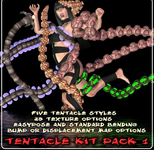 Davo's TENTACLE PACK 1  SKU: SKU28874 By: Davo  Back by popular demand! All new tentacles to plague your victims. This pack of 5 unique easypose and