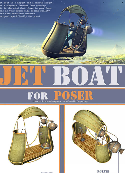 Jet Boat for Poser