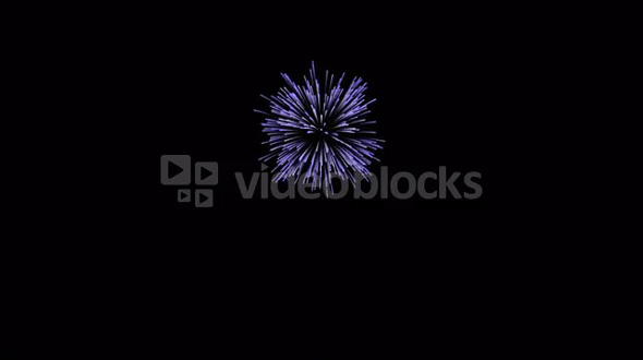 Single Blue Firework Element