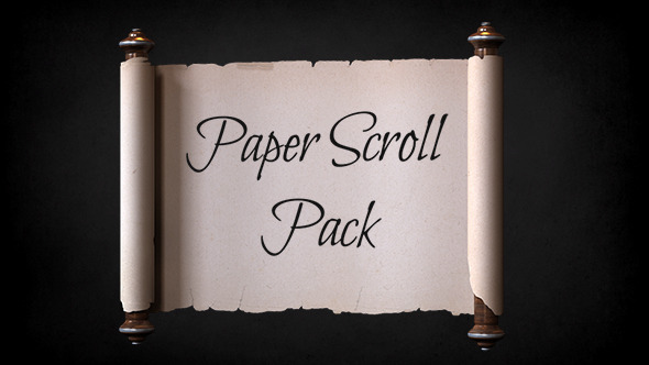 Paper Scroll Pack Template