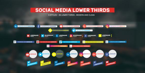Social Lower Thirds