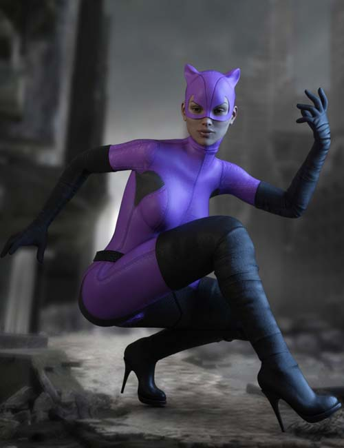 X-Fashion Kitty Girl Outfit for Genesis 3 Female(s)