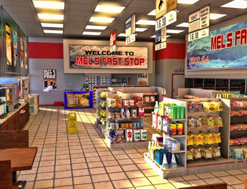 Corner Store and Poses for Genesis 3 Male and Female