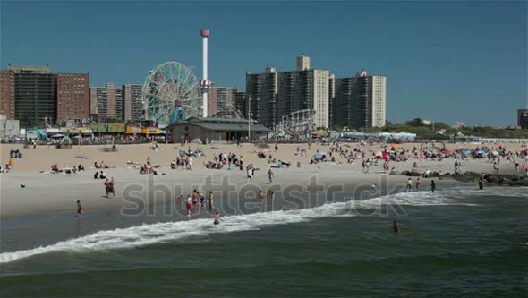 Coney Island beach, Brooklyn, New York