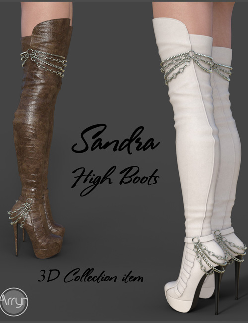 Sandra High Boots for Genesis 3 Females