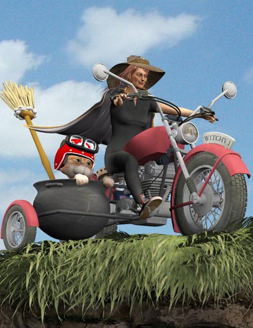 Witches MotorCycle (for Poser)