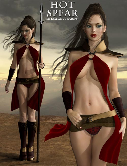 Hot Spear Outfit for Genesis 3 Female(s)