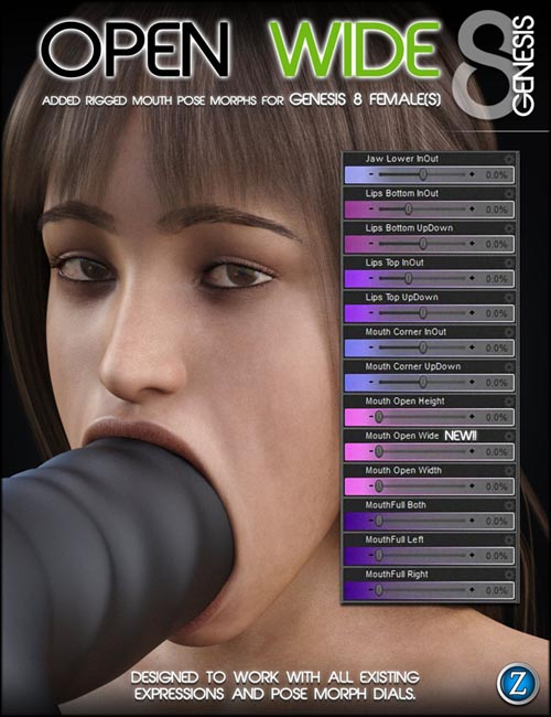 Open Wide For Genesis 8 Female(s)