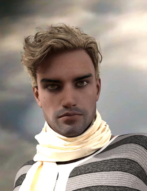 Cage Casual Waves Hair for Genesis 3 Male(s)