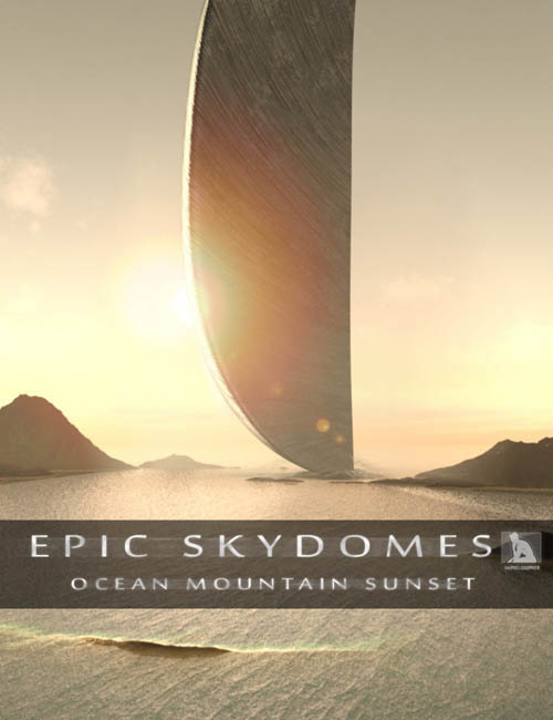 Epic Skydomes - Ocean Mountain Sunset HDRI