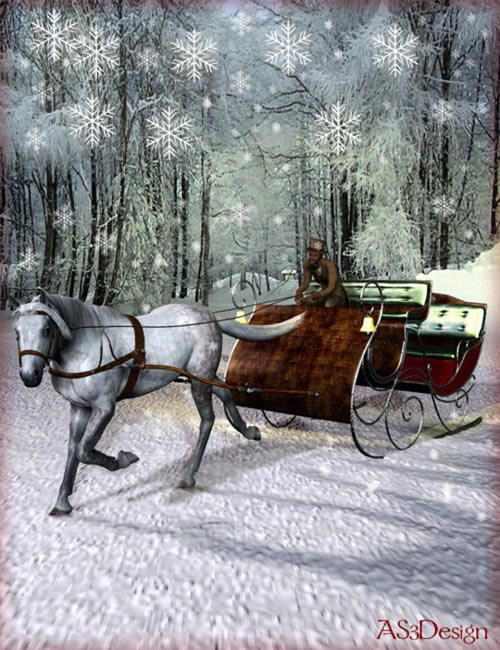 The Vintage Sleigh [ Iray UPDATE ]