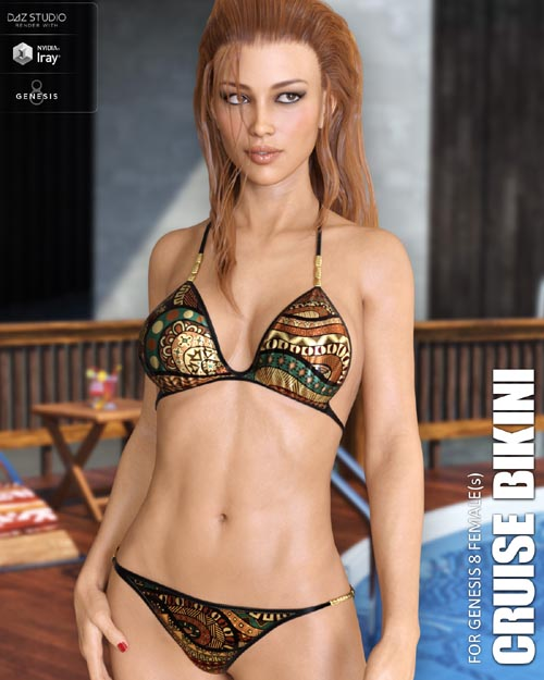 Cruise Bikini for Genesis 8 Females