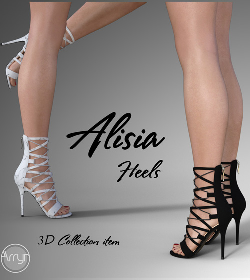 Alisia Heels for Genesis 8 Females
