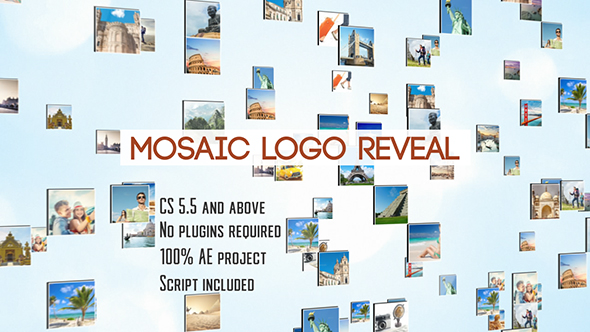 Mosaic Logo Reveal