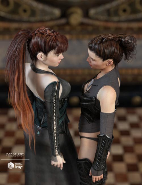 Devil May Deluxe Hair for Genesis 2,3 & 8 Female(s)