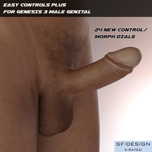 Easy Controls PLUS For Genesis 3 Male Genital