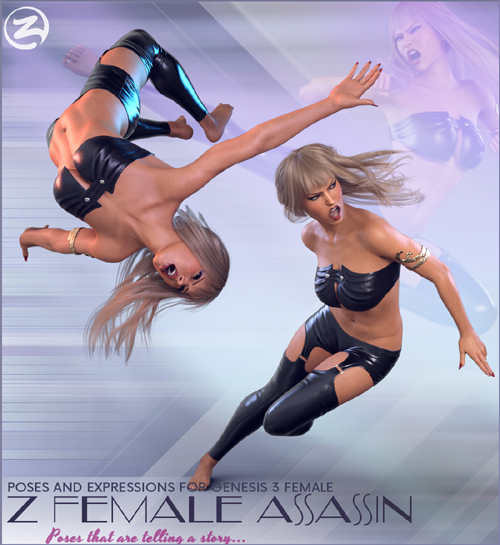 Z Female Assassin - Poses for the Genesis 3 Female(s)
